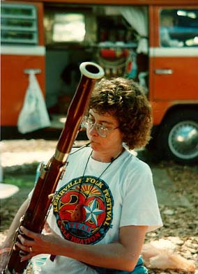 Photo - Dyanne plays bassoon in camp